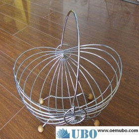 movable stainless steel 3 tire fruit basket