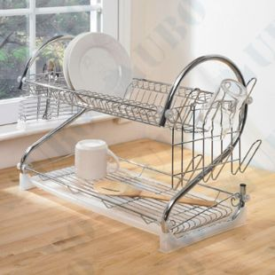 metal 4 Tiers kitchen dish stand