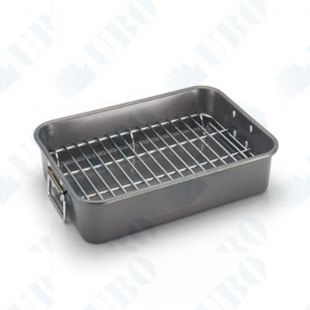 Flat stainless steel roasting rack